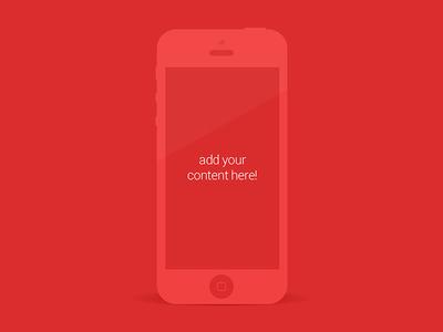 iPhone 5 - Minimalist mockup
