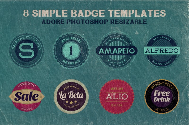 8 Simple Badge Templates