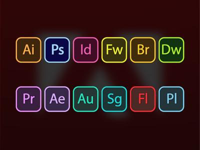 Adobe Suite Icons