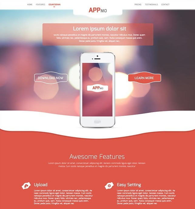 Appmo - One Page App Landing Page