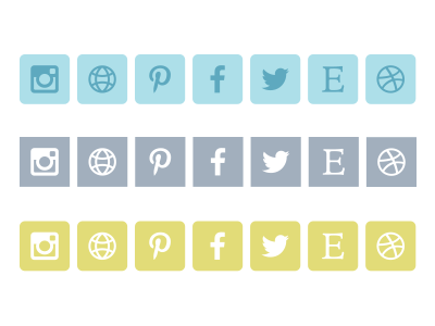 Just some social icons