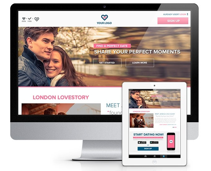 Landing Page Dating Website