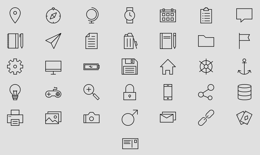 Linea free outline iconset