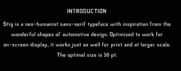 Stig - Handmade Typeface