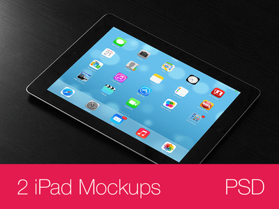 iPad Mockups PSD (black)