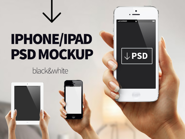iphone ipad PSD MOCKUP