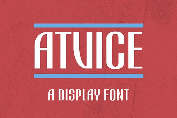 ATViCE Display Font