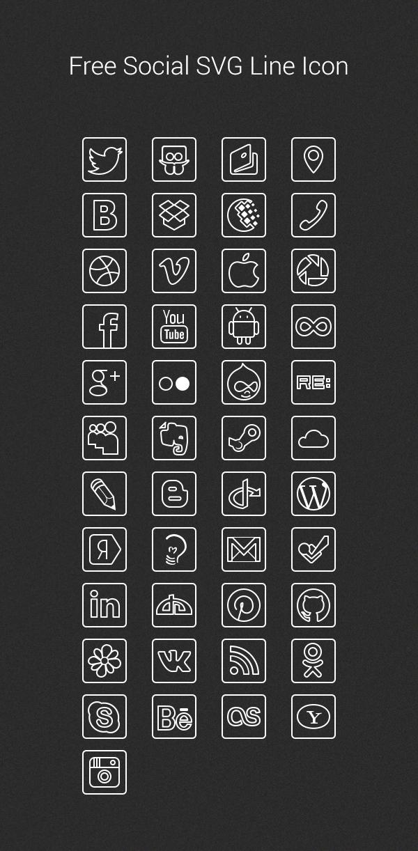 Free Social SVG Line Icon