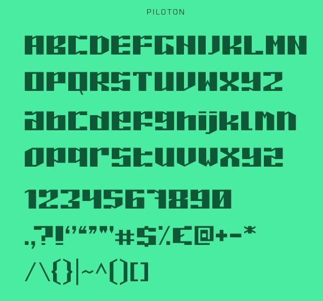 Piloton & Piloton G Typeface