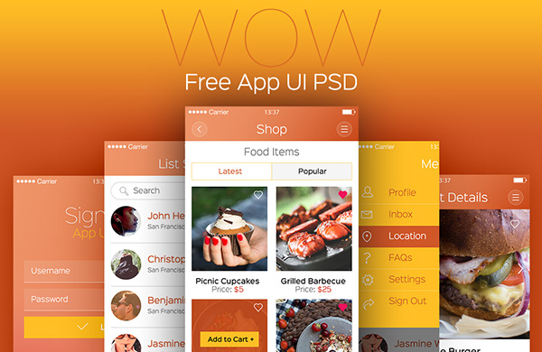 WOW Modern Mobile App UI
