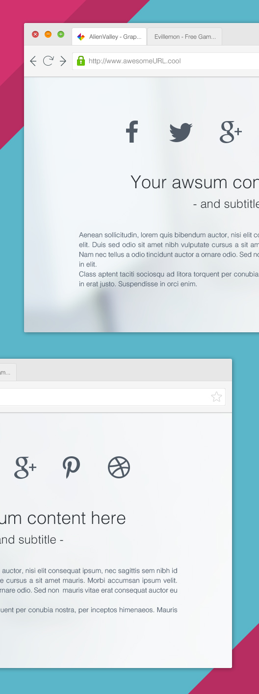 Clean Browser Mockup
