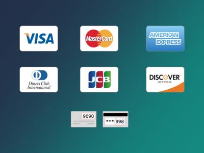 Credit Card Icons Sketch Freebie