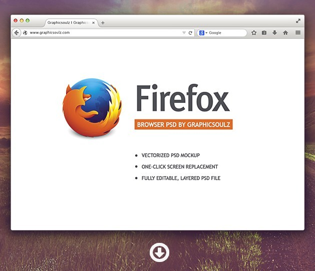 Firefox Browser Mockup
