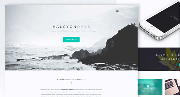 Halcyon Days One Page Website Template