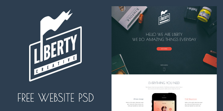 Liberty – FREE One Page Template PSD