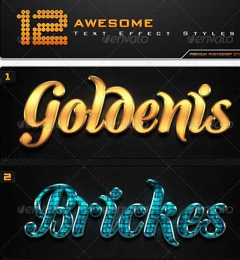 12 Awesome Text Effect Styles