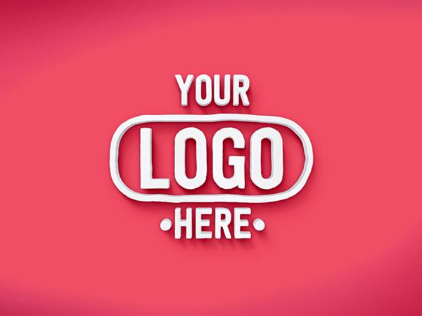 Free 3D Text Logo PSD