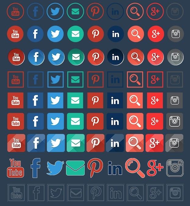 Free Social Icons Collection 24 style