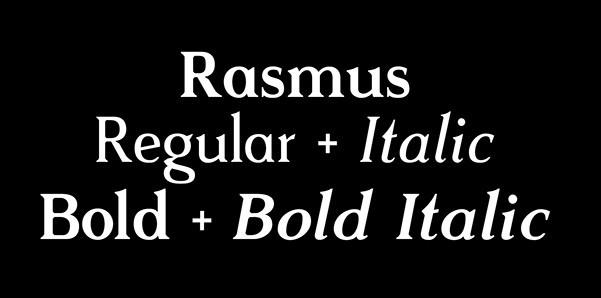 Rasmus — Typeface