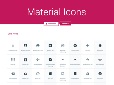 [SVG, Sketch] Material Icons Pack