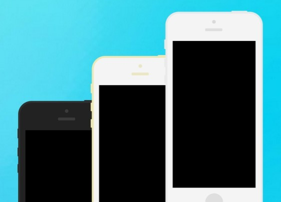 iPhone 5s 5c Flat Template