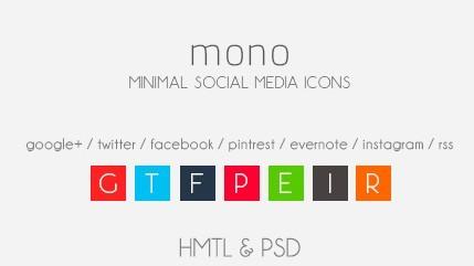 mono minimal social media icon