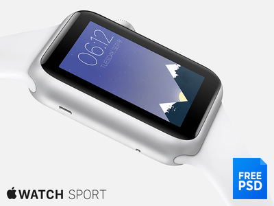 Apple Watch Sport Mockup