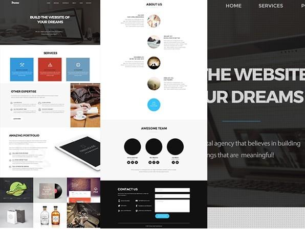 15 best one page website psd templates for web designers 365 web resources. Black Bedroom Furniture Sets. Home Design Ideas