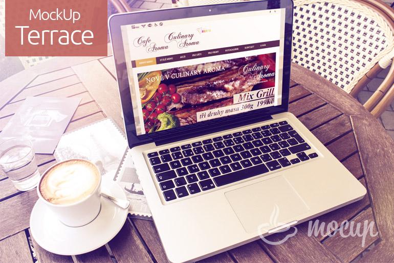 Free Macbook Pro mockup Terrace