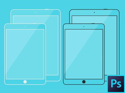 iPad Air & iPad Mini Line Template Kit