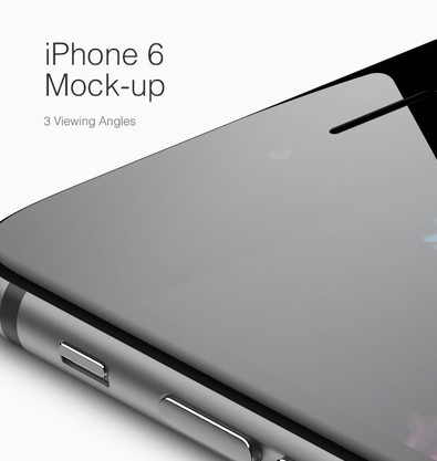 iPhone 6 MockUp – 3 Viewing Angles