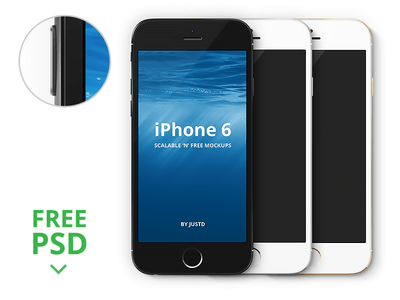 iPhone 6 - Scalable Vector Mockups