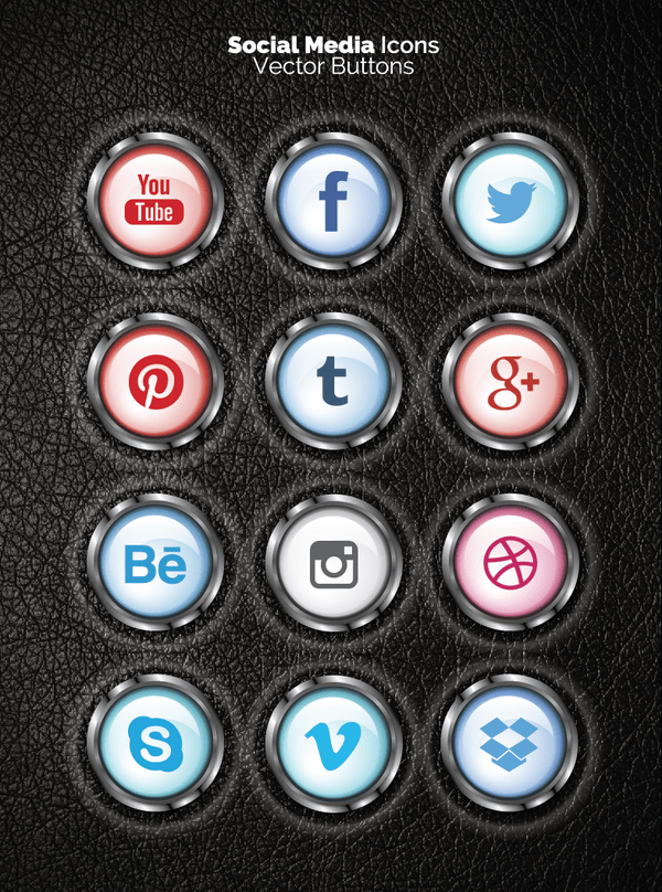 12 FREE Vector Social Icons