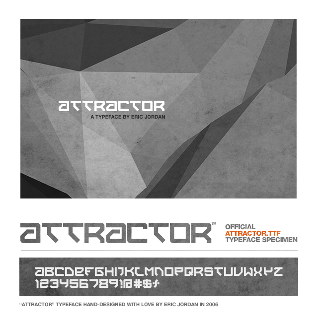 Attractor Typeface