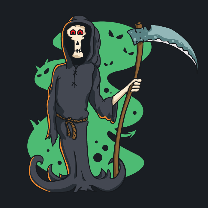Death Character with Scythe