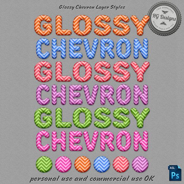 Glossy Chevron Photoshop Layer Styles