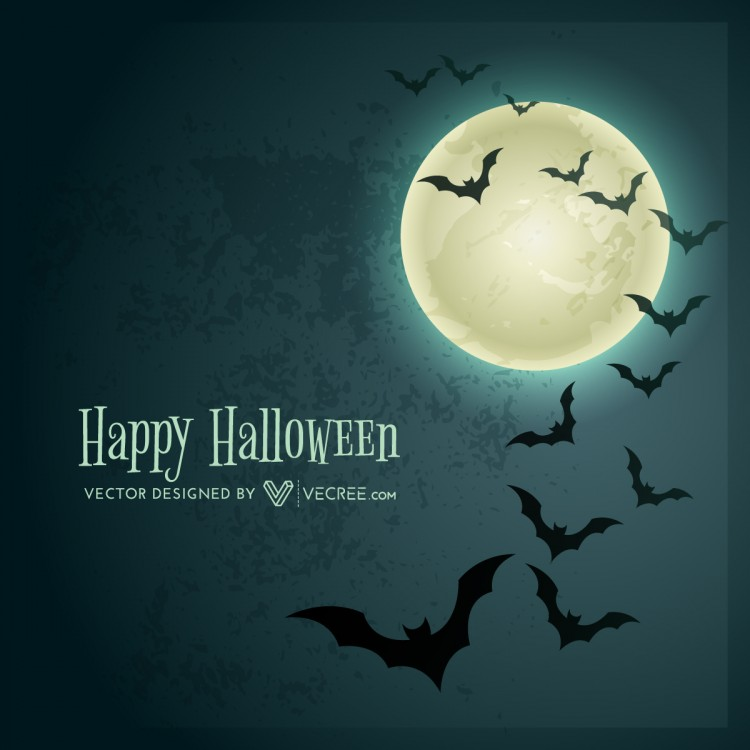 Halloween Bats Background Free Vector