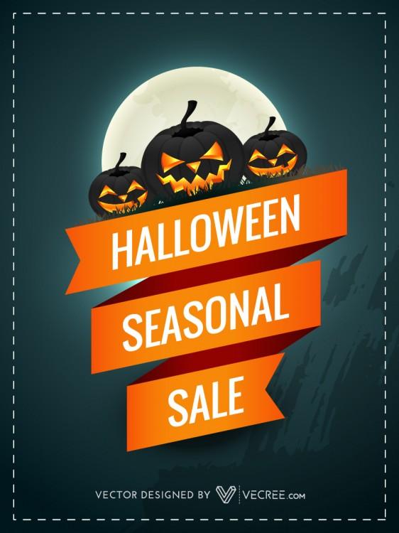Halloween Sale Free Vector