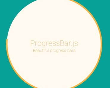 Responsive Progress Bar with SVG Path Animations - Progressbar.js