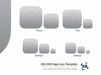 iOS 8 OCD App Icon Template