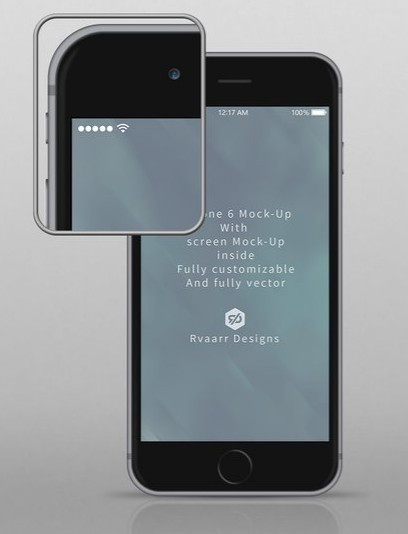 iPhone 6 Mock-Up all vector fully editable