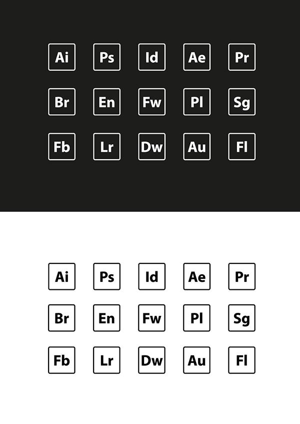 Adobe Icons - EPS & AI Freebies
