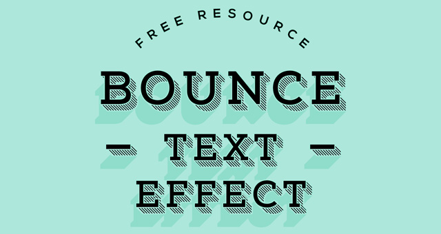 Bounce Psd Text Effect