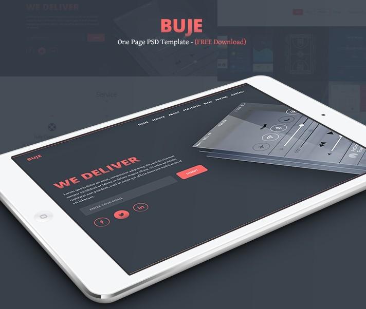 Buje - One Page PSD Template