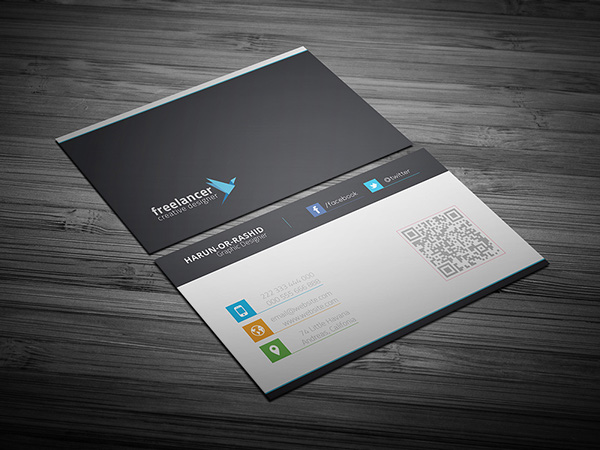 Clean & Creative Business Card PSD