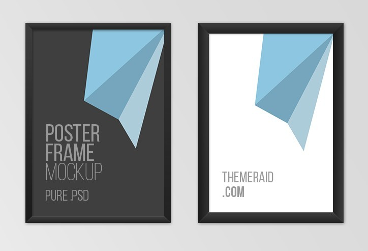 60 Free Realistic Poster Frame Mock Ups For Graphic Designers