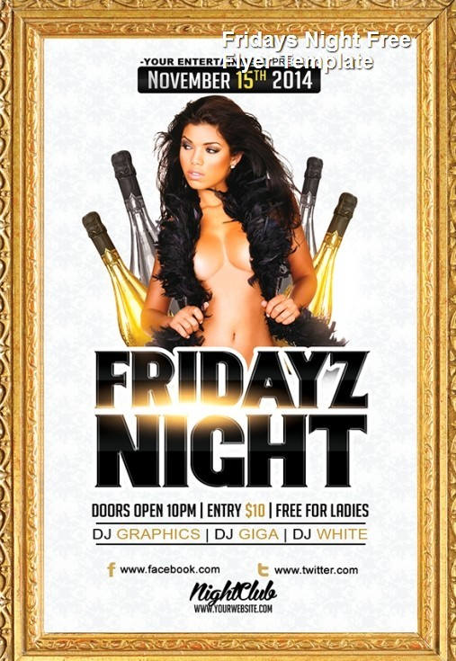 Fridays Night Free Flyer Template