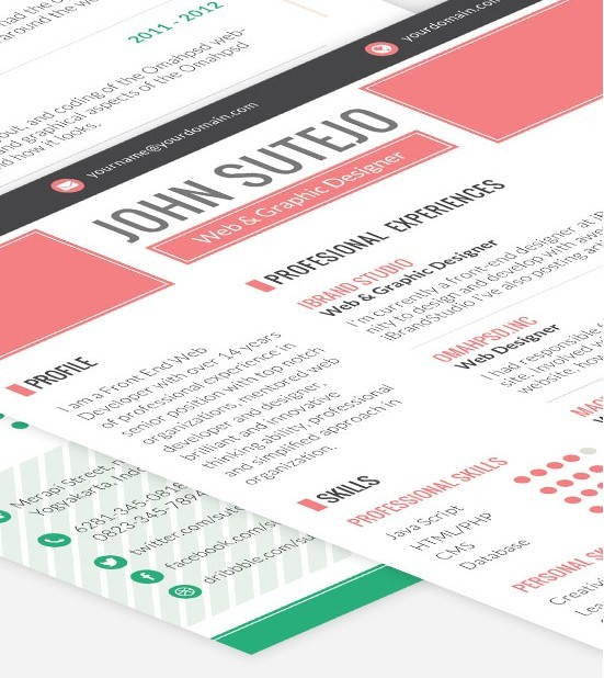 Octama Single Page Resume Template