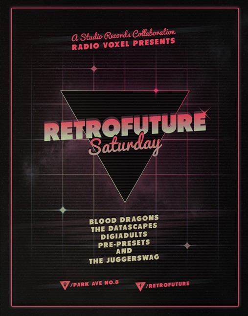 RetroFuture Flyer & Poster Template PSD