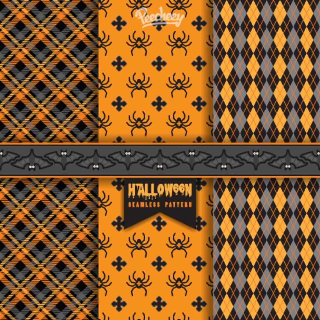 Set of three Halloween illustrations